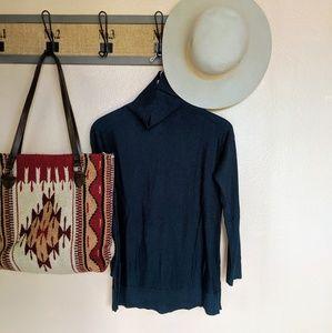 Loft | NWOT dark teal blue turtle neck sweater